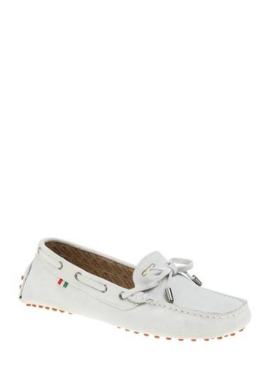 Divarese Süet Loafer Ayakkabı Beyaz